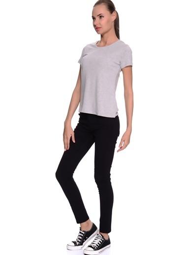 Limon Company O Yaka Kısa Kollu Standart Fit Kadın Tshirt Gri
